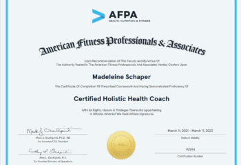 Certification for Completion Holistic Health Coach